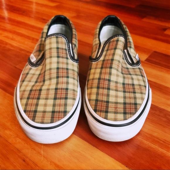 Vans Women's Plaid Slip On